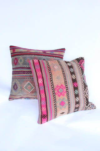Kilim Cushion Set 60cmx60cm Denim - Shirdak