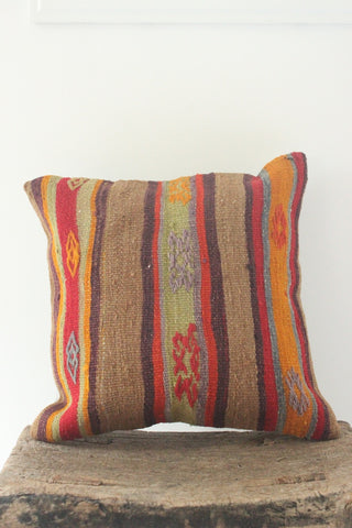 Kilim 40cmx40cm Cinnamon cushion - Shirdak