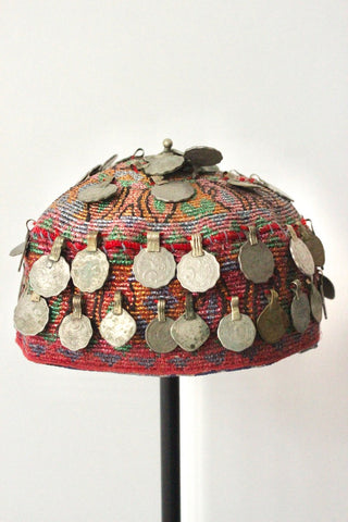 Afghan cap Red Coin - Shirdak