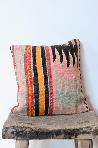 Kilim 40cmx40cm Pastel Ice Cushion