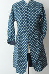 Block print Indigo Coat Tree Medium - Shirdak