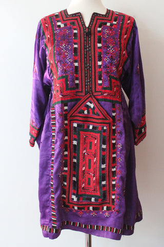 Balochi Dress Red Purple - Shirdak