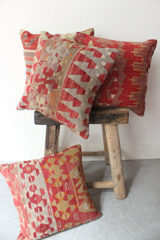Kilim Cushion Set 40cmx40cm Rust - Shirdak
