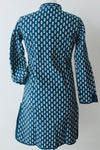 Block print Indigo Coat Tree Large - Shirdak