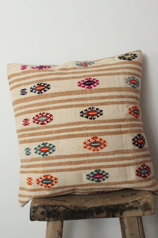 Kilim 60cmx60cm Sand cushion - Shirdak