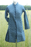 Block print Indigo Coat Leaf Small - Shirdak
