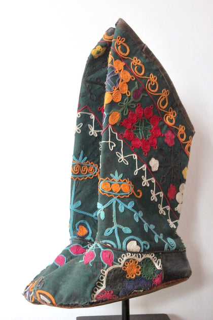 afghan embroidered boots