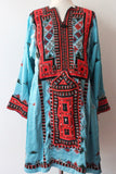 Balochi Dress Sky Blue - Shirdak