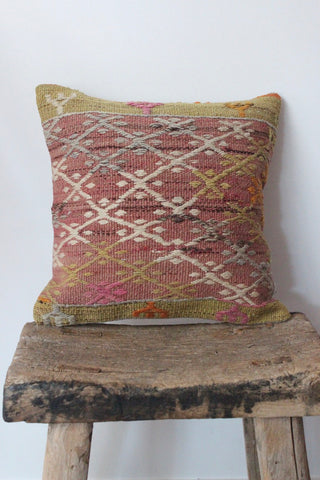 Kilim 40cmx40cm Kurkuma cushion - Shirdak