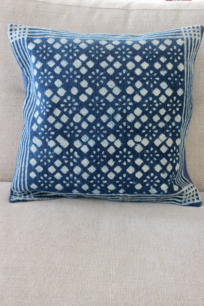 Indigo Block 50x50 cushion - Shirdak