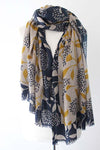 Blossom TD Curry/Navy Scarf - Shirdak