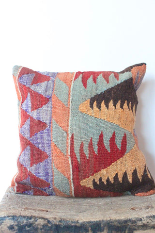 Kilim 40cmx40cm Pastel Chocolate Cushion