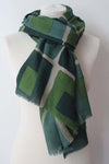 Cube Green Scarf - Shirdak