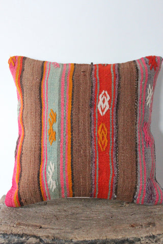 Kilim 40cmx40cm Cumin cushion - Shirdak