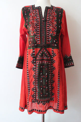 Balochi Dress Stone Red - Shirdak