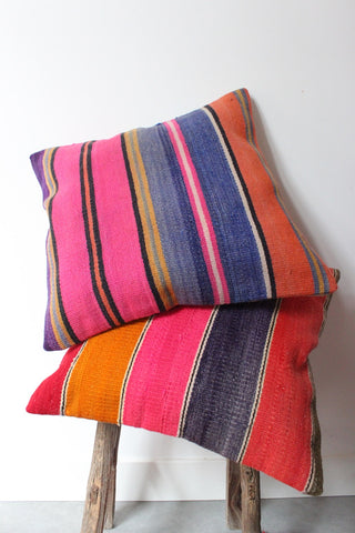 Kilim Cushion Set Pepper Stripe