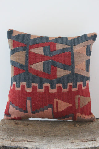 Kilim 40cmx40cm Sienna cushion - Shirdak