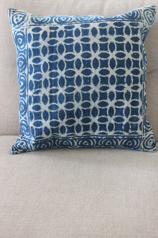 Indigo Circle 50x50 cushion - Shirdak