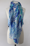 Silk Ikat Blockprint Scarf - Shirdak