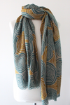 Meander TD Green/Curry Scarf - Shirdak