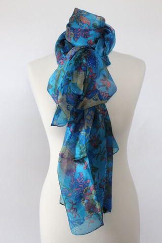 Silk French Flower Scarf - Shirdak