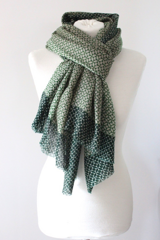 Lotus TD Green/Green Scarf - Shirdak