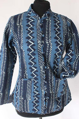 Stripe Block print coat size 36