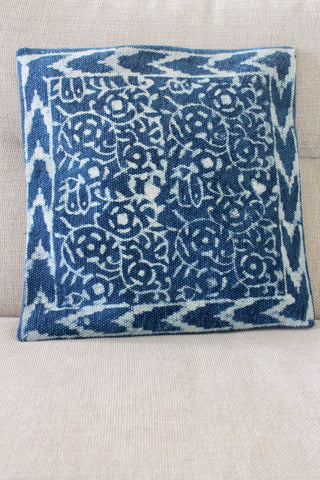 Indigo Leaf 40x40 cushion - Shirdak