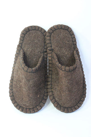 Slippers Brown size 46 - Shirdak