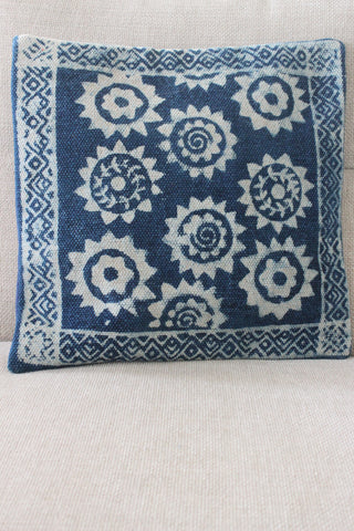 Indigo Star 40x40 cushion - Shirdak