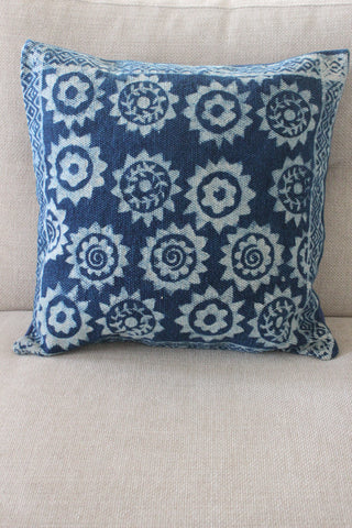 Indigo Star 50x50 cushion - Shirdak