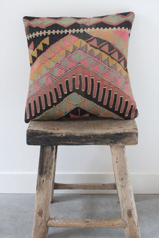 Kilim 50cmx50cm Mint cushion - Shirdak
