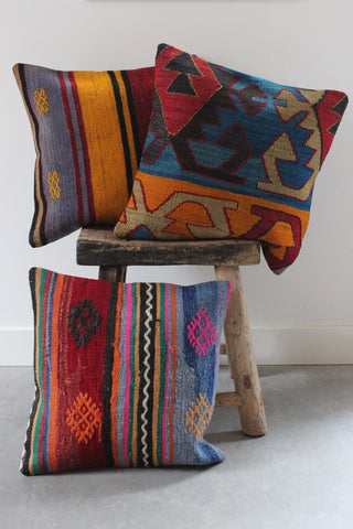 Kilim Cushion Set 50cmx50cm Blues - Shirdak