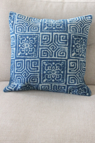 Indigo Tile 50x50 cushion - Shirdak