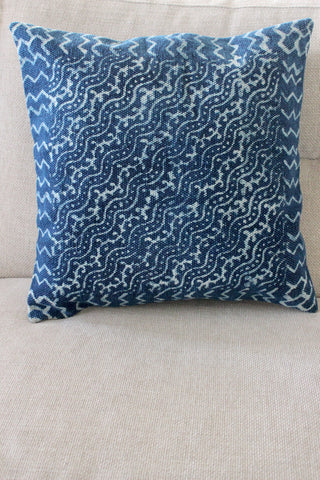 Indigo Wave 50x50 cushion - Shirdak