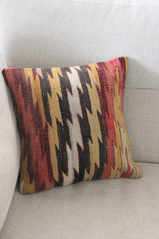 Kilim 40cmx40cm ZZag cushion - Shirdak