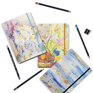Artistic Notebooks made from floral paintings by Judi Glover Art