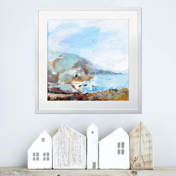 Cornwall Artwork. A painting of the Cornish Coast available as a print by Judi Glover Art