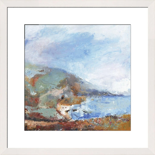Fine Art Print. Giclee Print made from original painting of a Cornish Coastal Path. Framed prints from original art. Available at Judi Glover Art. Original Painting by Judi Glover. Used for Wall Art.