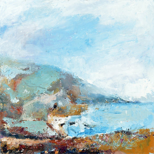Fine Art Card from original painting of a cornwall coastal path. The Coastal Card is available online at Judi Glover Art