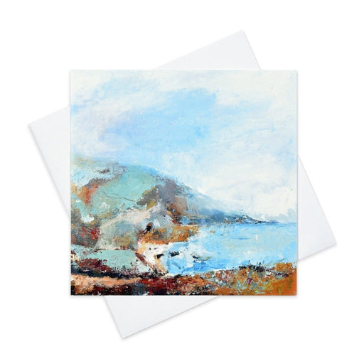Fine art greeting card of Cornwall coast made from original art in the UK and available from Judi Glover Art