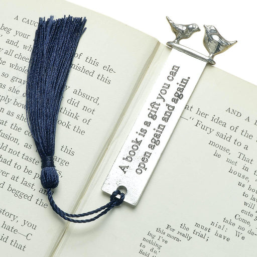 Cute bookmarks by Judi Glover Art. The bookmarks feature a quote and two birds facing each other to make unique bird lover gifts.