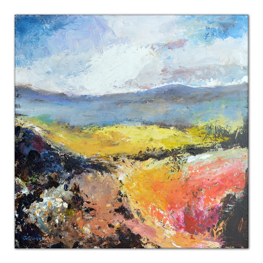 Landscape Canvas Print. Uk countryside canvas print. Canvas Print made from original painting of uk landscape. Stretched Canvas Print from original art. Available at Judi Glover Art. Original Painting by Judi Glover. Used for Wall Art.