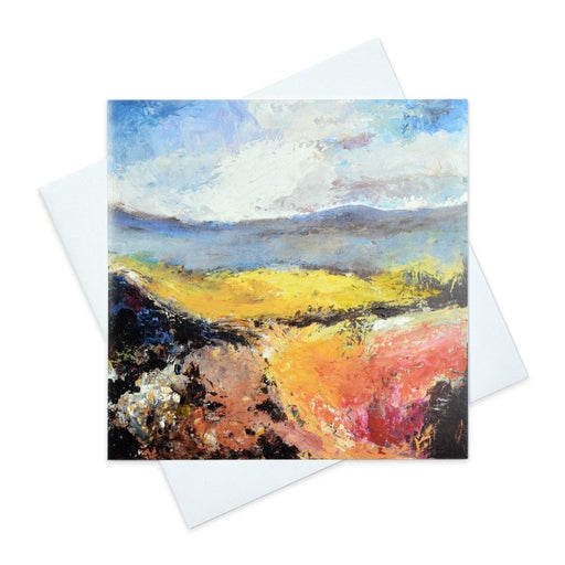 Art Card by UK Artist Judi Glover that is an original art greeting card of the New Forest and Autumn Sky. The Fine Art Greeting card is available online at Judi Glover Art