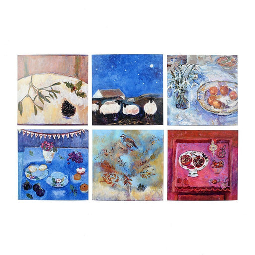 Set of twelve art christmas cards. Christmas cards made from original fine art available at Judi Glover Art.