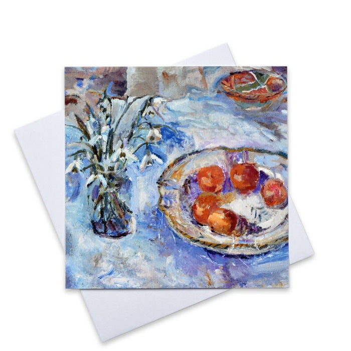 Set of six fine art christmas cards. Christmas cards made from original art. Available at Judi Glover Art.