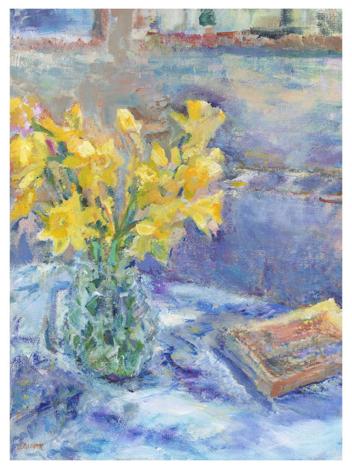 Daffodil Art Print. Art print of Daffodils. Painting of flowers by a UK Artist. Available as an giclee art print and a framed art print. Prints from Original Art by UK Artist Judi Glover