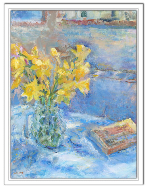 Daffodil Canvas Print. Daffodil Canvas Print made from original painting of daffodils. Canvas Print from original art. Available at Judi Glover Art. Original Painting by Judi Glover. Daffodil canvas print Used for Wall Art.