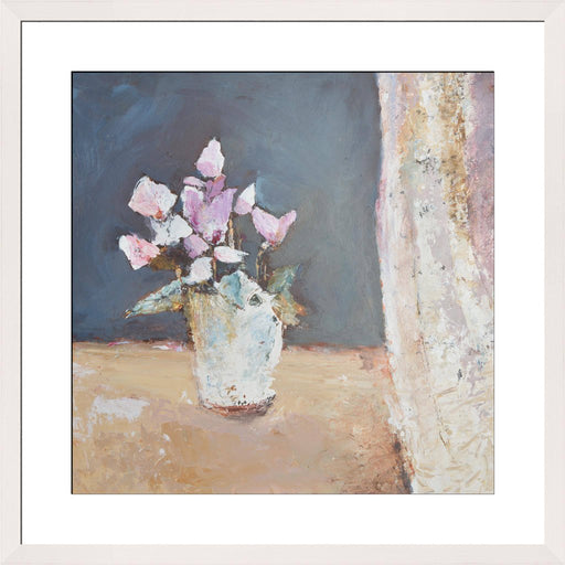 Cyclamen Fine Art Print. Cyclamen art print made from original art. This giclee art print is available as a fine art print. The fine art print is available as a framed art print. Fine Art prints from Original art by UK artist Judi Glover.