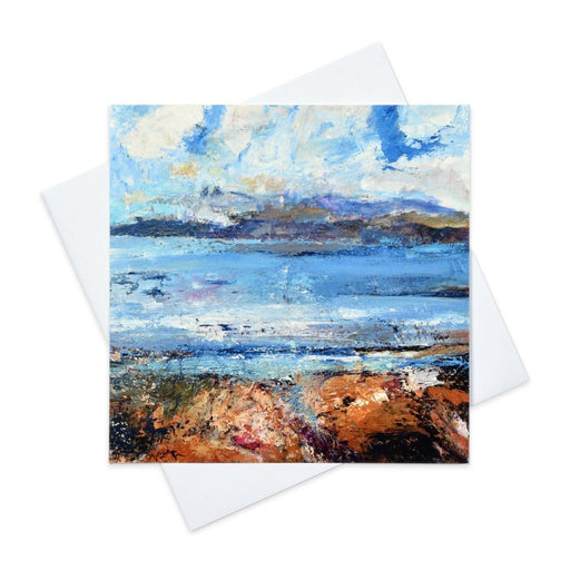 Iona Greeting Card with a Isle of Iona painting made from original art in the UK by Judi Glover Art